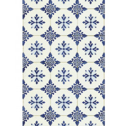 Lé unique Carrelage retro bleu - Bon Appétit - Caselio