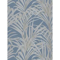 Papier peint Fougères bleu turquoise - LOUISE - Casadeco