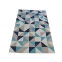 Tapis triangles scandinaves gris et bleu - Canvas