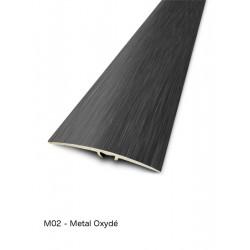 0,93mx41mm - Barre de seuil Metal oxydé Finition métallique - fixation invisible multi-niveaux plaxés Harmony - DINAC