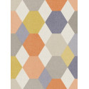 Papier peint géométrique Arlequin bleu/orange - SWING - Caselio