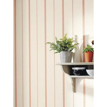Papier peint Rayures Matelas orange - BON APPETIT - Caselio - BAP68393050