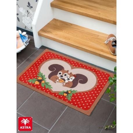 """Paillasson intérieur """"Ecureuils rouge"""" - Happy Home ASTRA 50x70"""