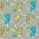 Sol Vinyle PLAY - Largeur 2m - motif circuit routier - Macadam Green - Tarkett