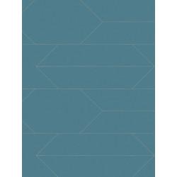 Papier peint intissé à motif graphique bleu - BJORN - AS CREATION