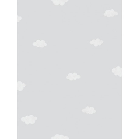 Papier peint intissé enfant à motif Nuages gris - MY LITTLE WORLD Caselio