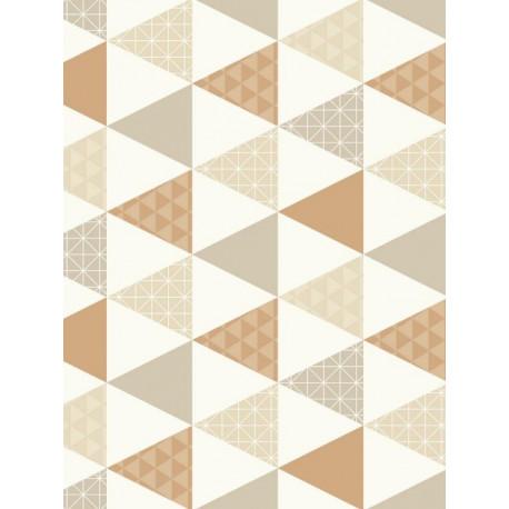 Papier peint intissé Triangles à motif cuivre/taupe - TONIC Caselio