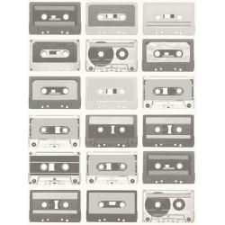 Papier peint intissé Cassettes noir et blanc - TONIC Caselio