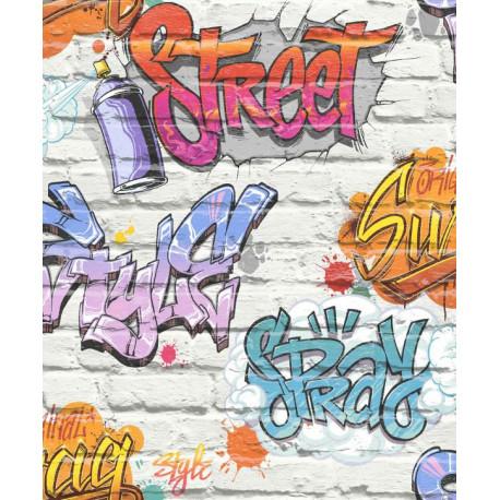 Papier peint Graffiti - FREE STYLE - Ugepa - L17905