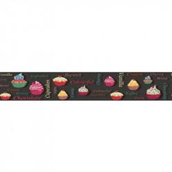 Frise adhésive cuisine Cupcakes - couleurs - Lutèce
