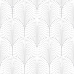 Papier peint intissé JOSEPHINE blanc argent - Graham & Brown