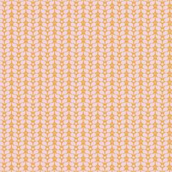 Papier peint FLOWER POWER rose et orange  - Smile - Caselio
