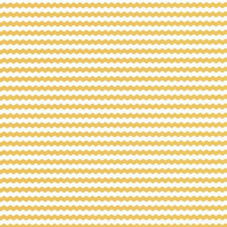 Papier peint chevrons jaune - Smile - Caselio