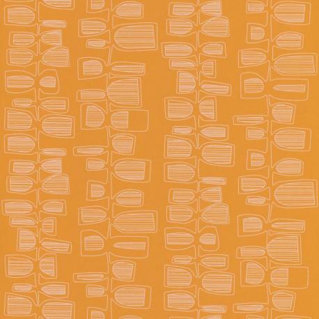 Papier peint Seventies orange  - Smile - Caselio