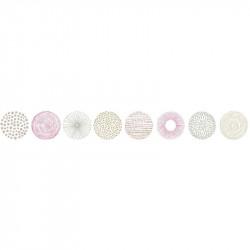 Frise, Rond graph , taupe et rose, PRETTY LILI, CASELIO