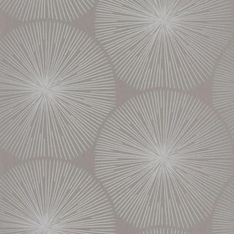 Papier peint Éclat gris et argenté  - HELSINKI - Casadeco