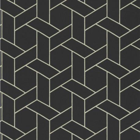 Papier peint Focale noir et doré - HELSINKI - Casadeco - HELS82039528