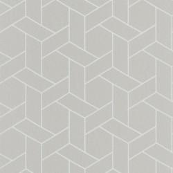 Papier peint Focale gris taupe, touche argentée - HELSINKI - Casadeco