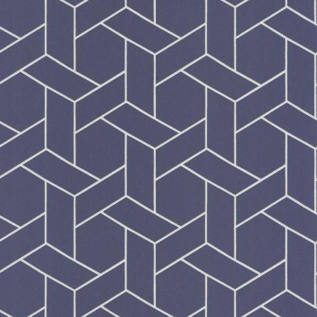Papier peint Focale bleu encre et doré - HELSINKI - Casadeco - HELS82036319