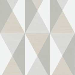 Papier peint motif géométrique Triangles gris et beige - GRAPHIQUE - UGEPA