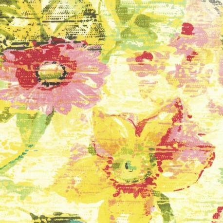 Papier peint Fleur Vintage, coloré - Lucy in the sky - Rasch