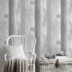Papier peint EASTPORT gris, bois vintage  - Graham & Brown