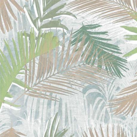 Papier peint Jungle Glam blanc, or et vert - Graham & Brown - 104265