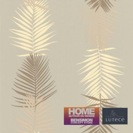 Papier peint FEUILLE PALME GRIS/TAUPE  - Bensimon - Lutèce