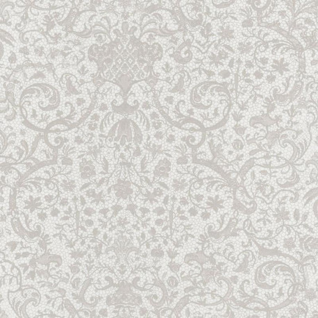 Papier peint ORSAY blanc  - Signature - Casadeco