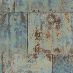 Papier peint métal bleu  - Factory III - Rasch