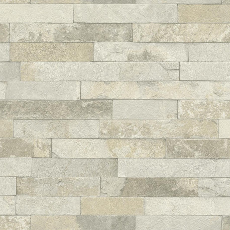 Papier peint briques naturel - Factory III - Rasch