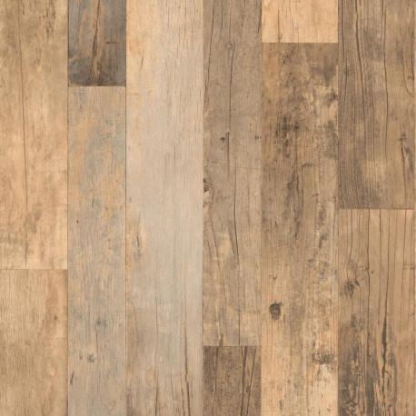Papier peint planches de bois taupe - Factory III - Rasch