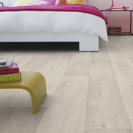 Sol PVC - Admiral Light Grey parquet gris clair - Exclusive 300 Concept Seasons TARKETT - rouleau 4M
