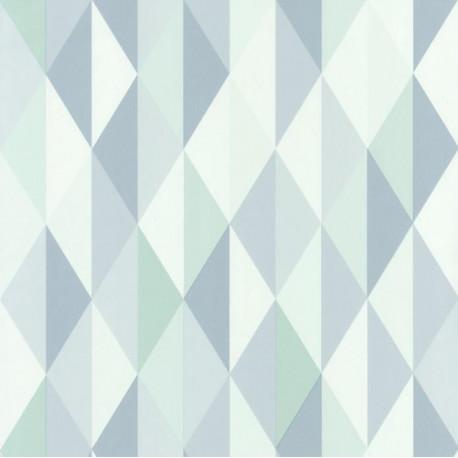 Papier peint Diamond Triangles bleu - SPACES - Caselio - SPA100087020