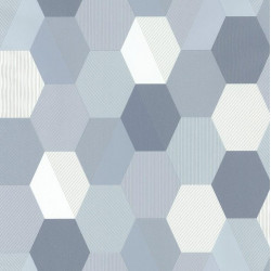Papier peint Hexagon Bleu Gris– SPACES – Caselio