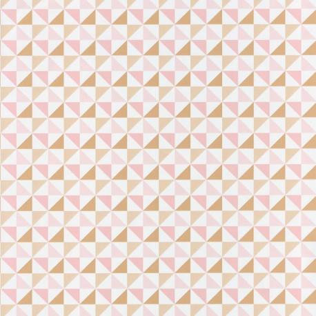 Papier peint Shapes Triangles Rose – SPACES – Caselio