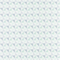 Papier peint Shapes Triangles Bleu – SPACES – Caselio