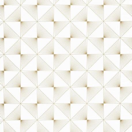 Papier peint Lines Carrés Beige – SPACES – Caselio