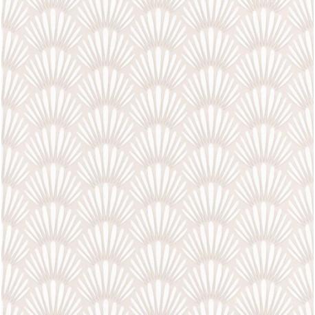 Papier peint Canopee Motifs tropicaux beige et blanc – JUNGLE - Caselio