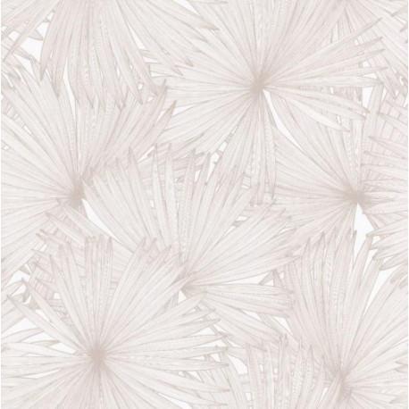 Papier peint Coconut Motifs feuilles de cocotier beige – JUNGLE - Caselio