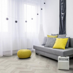 Revêtement PVC - Largeur 4m - Paris white parquet chevrons - Texline Gerflor
