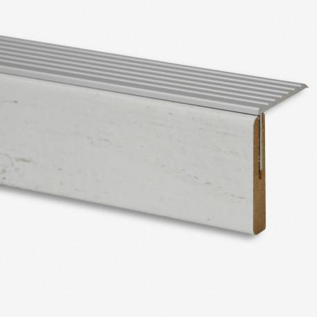 Marche palière + profilé en Aluminium chêne Alaska 109 - Concept d'escalier Maëstro Steps