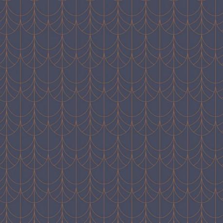 Papier peint Filament bleu et cuivre - BELLE EPOQUE - Casadeco - BEEP82266438