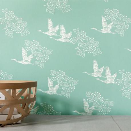 Papier peint TOBU vert opaline - HANAMI - Caselio