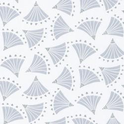 Papier peint éventails ORIGAMI gris - HANAMI - Caselio
