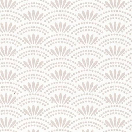 Papier peint motif japonais HAIKU beige irisé - HANAMI - Caselio