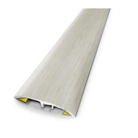 2,70mx41mm - Barre de seuil Blanc Nordic - fixation invisible multi-niveaux plaxés Harmony - DINAC