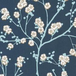 Papier peint cerisier japonais SAKURA gris - HANAMI - Caselio