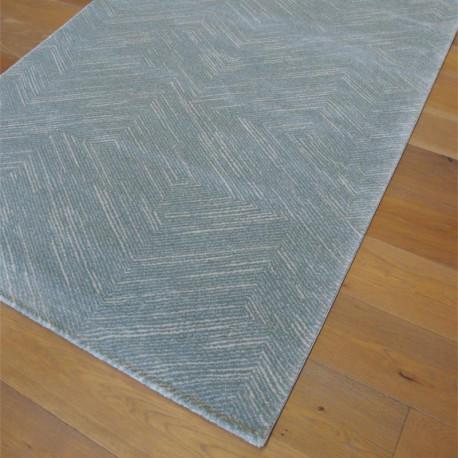 Tapis bleu pastel motif géométrique fondu - 140x200 - OPUS - BALTA