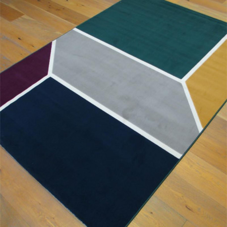 Tapis contemporain géométrique coloré - Canvas - 160x230cm